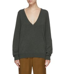 deep v neck reversible cashmere sweater