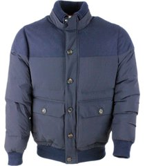 brunello cucinelli bomber down jacket in water-repellent taffeta fabric and parts on the shoulders in wool, silk and cashmere fabric. knitted cuffs an
