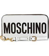logo zip-around leather wallet