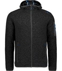 blazer cmp knit-tech meliert fleece hooded jacket