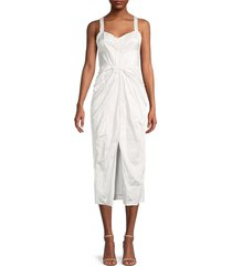 jason wu women's front cut sheath dress - chalk - size 2