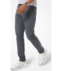 mk pantalone slim-fit parker in twill stretch - fumo (grigio) - michael kors