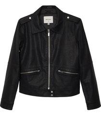 matt & nat vaughn vegan leather jacket, black