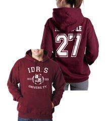 herondale 27 idris university shadowhunters unisex pullover hoodie s-3xl maroon