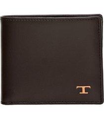 tods tods dark brown wallet