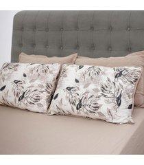 conjunto de lençol solteiro pertutty algodão toque macio