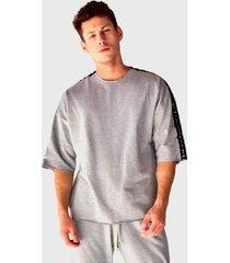 camiseta oversized em moletinho brohood manga curta cinza - cinza - masculino - algodã£o - dafiti