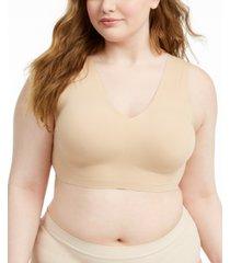 calvin klein women's plus size invisibles v-neck comfort bralette qf5831