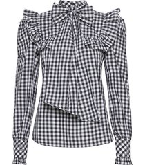 vivica blouse lange mouwen zwart custommade