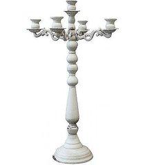 świecznik metalowy 66 cm