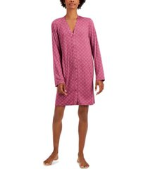 alfani printed button-front nightgown, created for macy's
