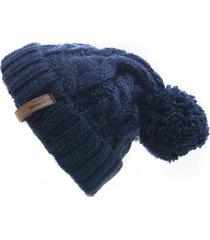 gorro de lana beanie blue flaw