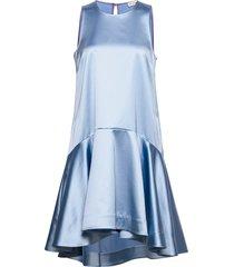 henrica bow jurk knielengte blauw custommade