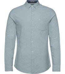 slim fit cotton oxford striped shirt skjorta casual blå original penguin