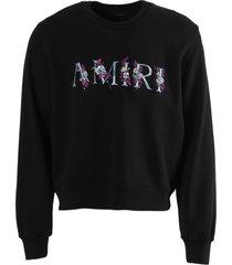 floral logo sweatshirt black