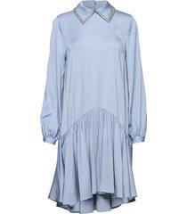 coco jurk knielengte blauw custommade