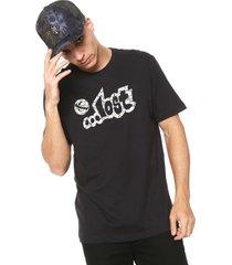 camiseta ...lost cracked preta - preto - masculino - dafiti