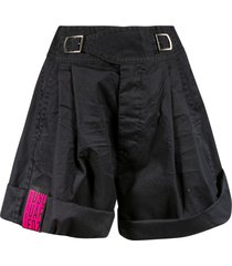 dsquared2 buckled waist flared shorts