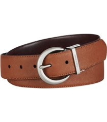 calvin klein reversible saffiano to smooth leather belt