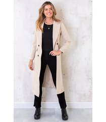 ultra long coat beige