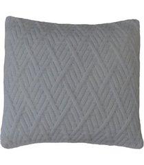 capa almofada tricot 45x45cm c/zãper sofa trico cod 1025 branco - branco - feminino - dafiti