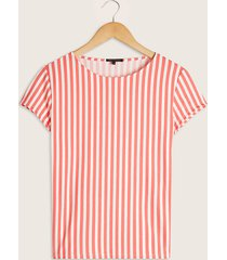 camiseta coral-blanco patprimo
