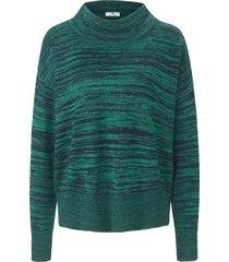 trui van 100% katoen met opstaande halsboord van peter hahn groen