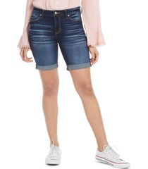celebrity pink juniors' cuffed bermuda shorts