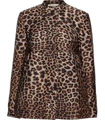 jungle print jacket zomerjas dunne jas bruin rabens sal r