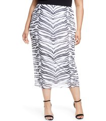 afrm felix power mesh skirt, size 1x in blanc tiger at nordstrom