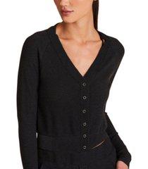 alala cropped thermal cardigan sweater