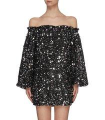 'gloria' sequin off shoulder mini dress