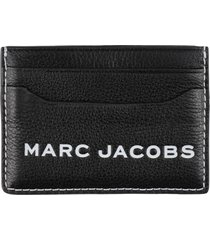 marc jacobs the textured tag leather card holder