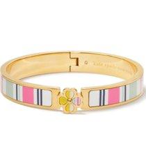 kate spade new york gold-tone spade flower printed bangle bracelet