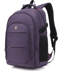 mochila/ para hombres 17inch laptop usb bolsa viaje-púrpura