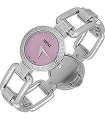 versace designer women's watches, corniche - ladies' stainless steel watch