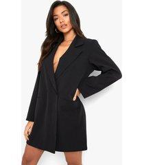 oversized neon blazer jurk, black