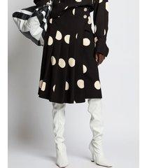 proenza schouler broken dot skirt 22090 black/ecru dot 8