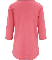 shirt 100% katoen 3/4-mouwen van green cotton rood