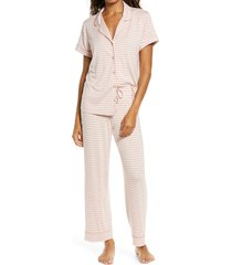 women's nordstrom moonlight dream crop pajamas, size x-small - pink