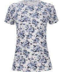 camiseta viscosa c/r color blanco, talla s