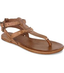 women's bed stu moon thong sandal, size 9.5 m - brown