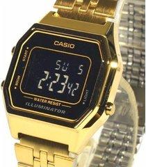reloj casio retro digital la-680wga-1b dorado