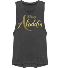 disney juniors' aladdin aladdin live action logo festival muscle tank top