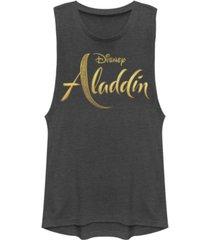 disney juniors' aladdin aladdin live action logo festival muscle tank top