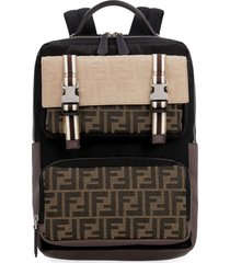 fendi santander technical fabric backpack