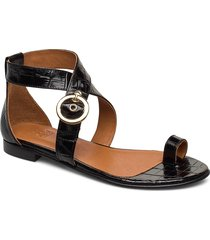shoes 4142 shoes summer shoes flat sandals svart billi bi