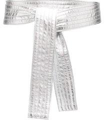 philosophy di lorenzo serafini metallic sash belt - silver