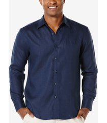 cubavera tucked long-sleeve 100% linen shirt