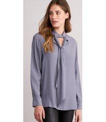 blouse met strik aan de hals